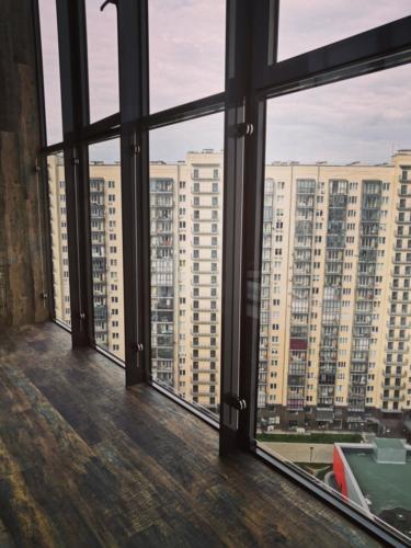 №17 Ограждение балкона. Стекло закаленное.г. Красноярск